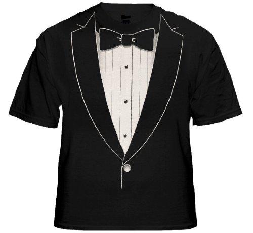 Tuxedo tees the classic black tie tuxedo t shirt for Black shirt and black tie